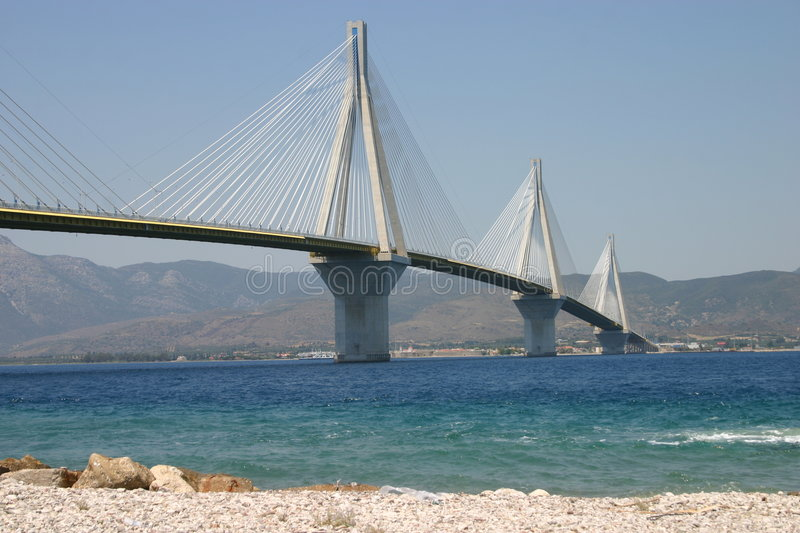 Patras Bridge stock photos