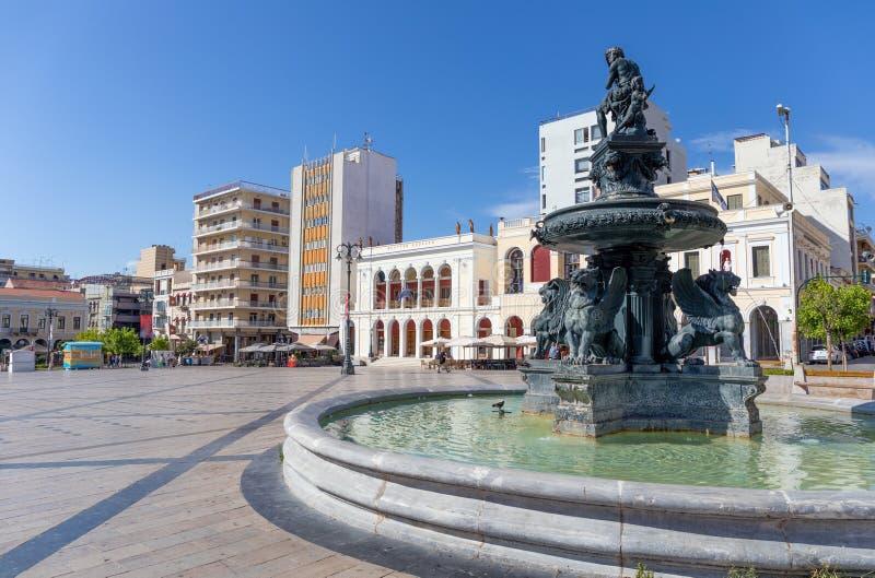 Georgiou I square Plateia Vasileos Georgiou, Patras, Greece. stock photo