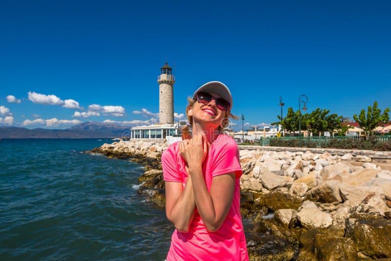 Patras-Leuchtturm lizenzfreie stockfotos