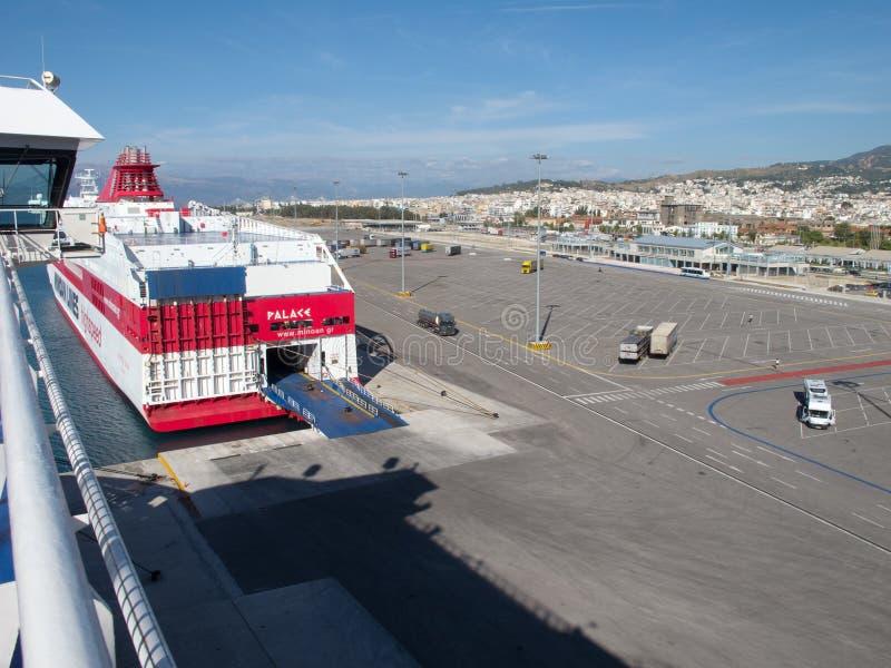 Patras port, Greece stock photos