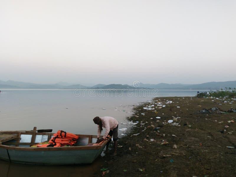 Patratu sjö ranchi royaltyfri fotografi