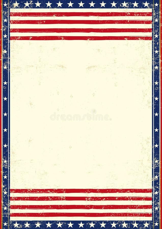Patriótico sucio americano ilustración del vector