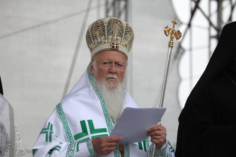 Patriarca Bartholomew I de Constantinopla fotos de archivo libres de regalías