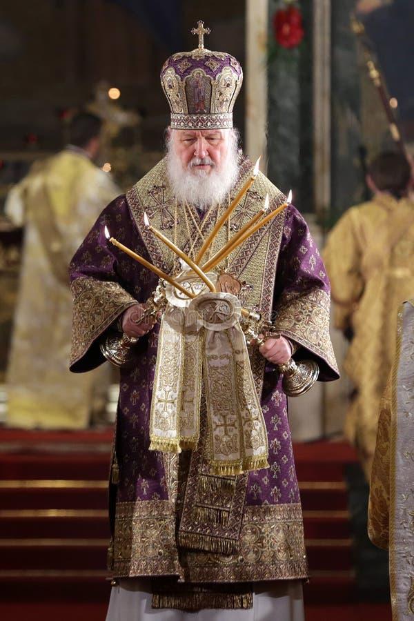 Patriarca ruso Kirill imagen de archivo