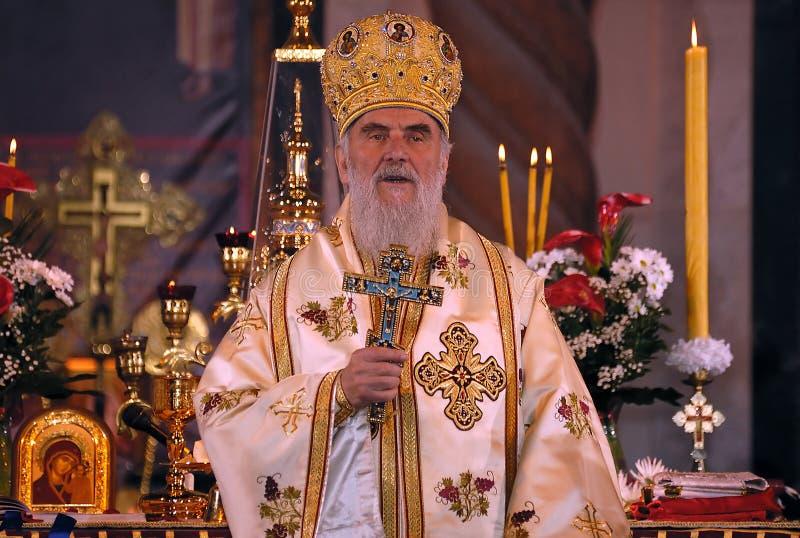 Patriarca sérvio IRINEJ-9 foto de stock royalty free