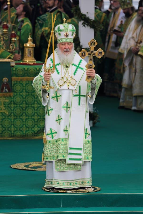 Patriarch Kirill von Moskau stockfotos