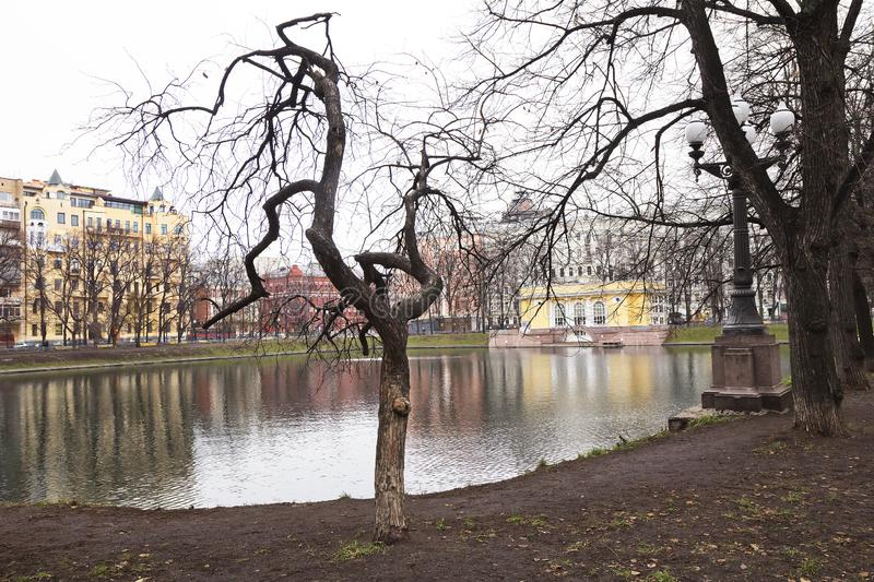 Moscow, Russia, Patriarch ponds. royalty free stock images