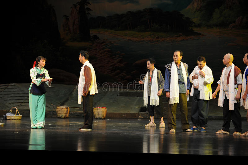 The patriarchal society- Jiangxi opera a steelyard. Jiangxi opera a steelyard is adapted from a true story: the last century fortys, the protagonists father runs stock images