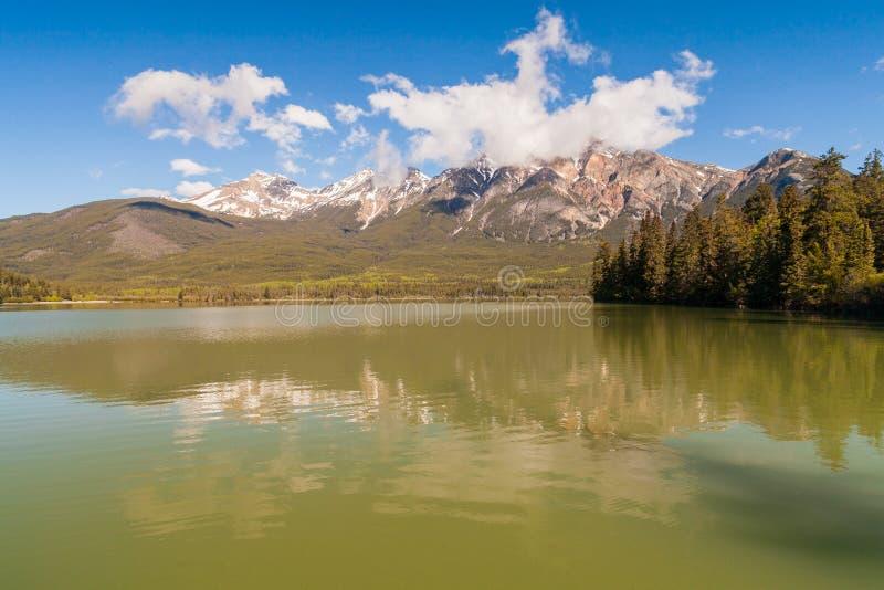 Patricia湖,亚伯大,加拿大 库存照片