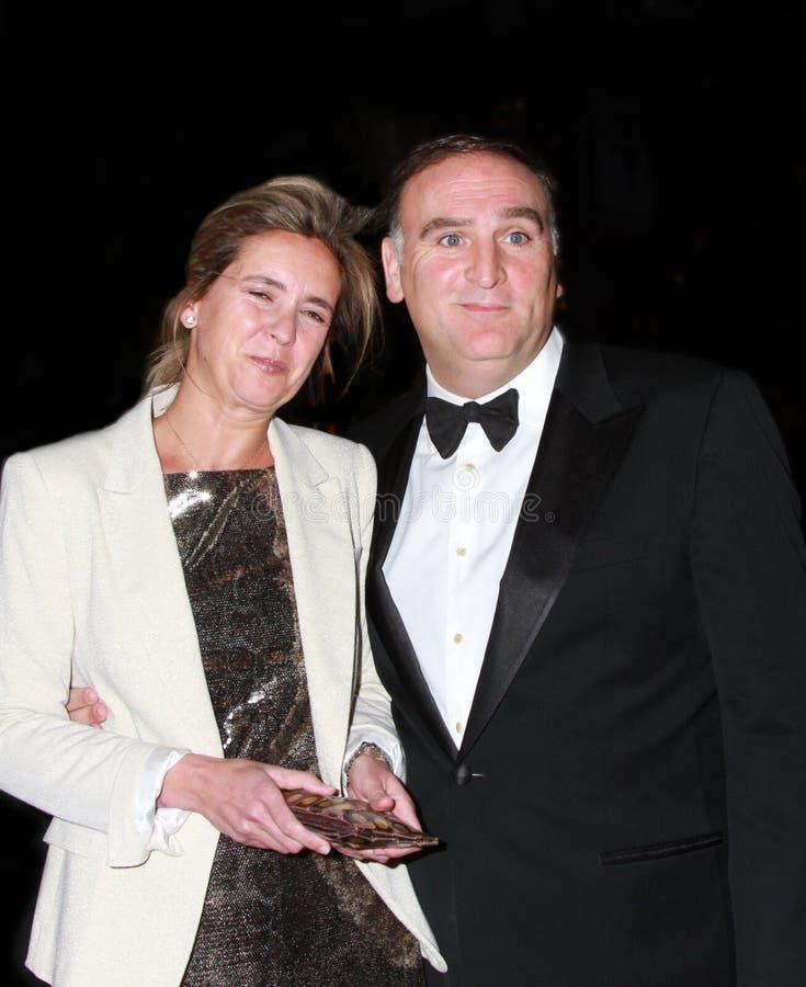 Patricia Andres et Jose Andres photographie stock libre de droits