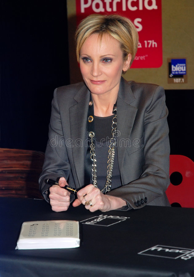Patricia Kaas in Paris stockbild