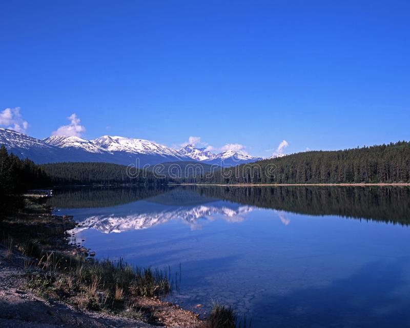 Patricia Lake, Jasper National Park. photographie stock
