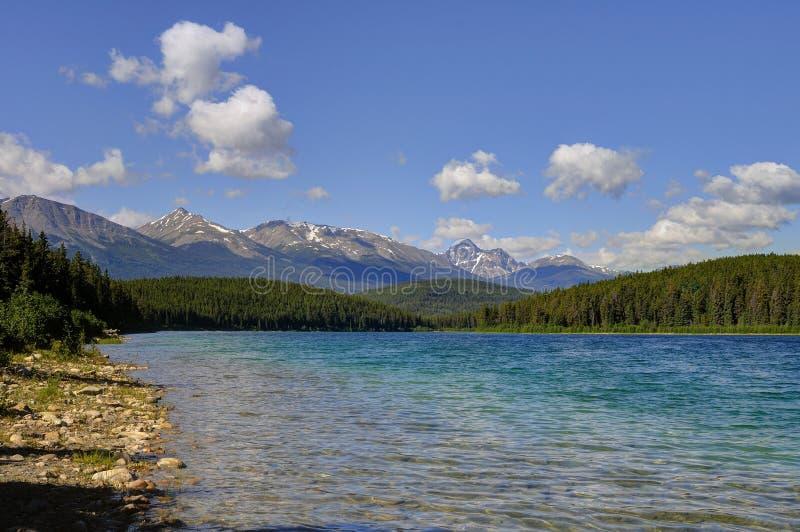 Patricia Lake, Jasper National Park image libre de droits