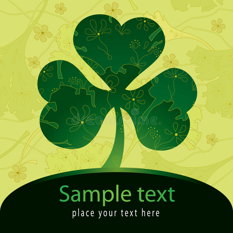 Download Patrick card with trefoil stock vector. Image of background - 12960723