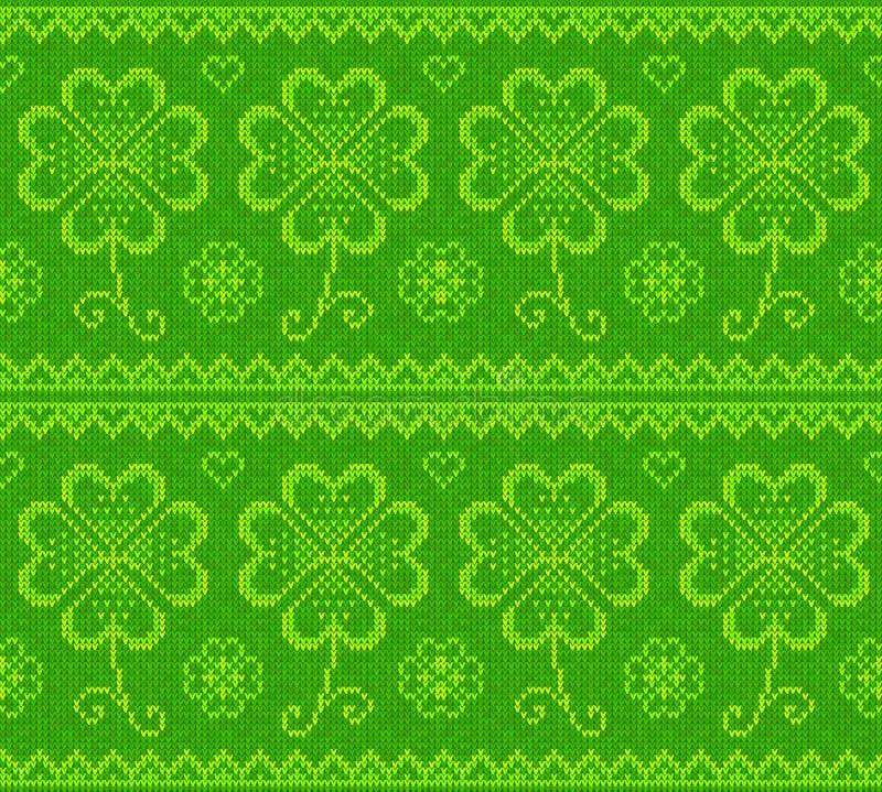 Patrick dnia zieleni trykotowy pulower z koniczyną royalty ilustracja