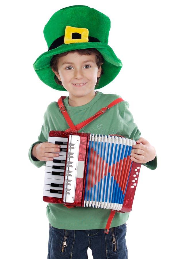 Patrick jest święte dziecko whit kapelusza zdjęcie royalty free