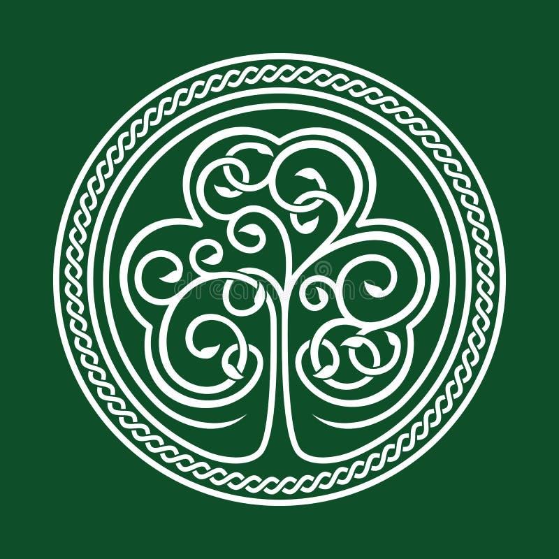 Patrick jest dzień św Shamrock na zielonym tle ilustracja wektor