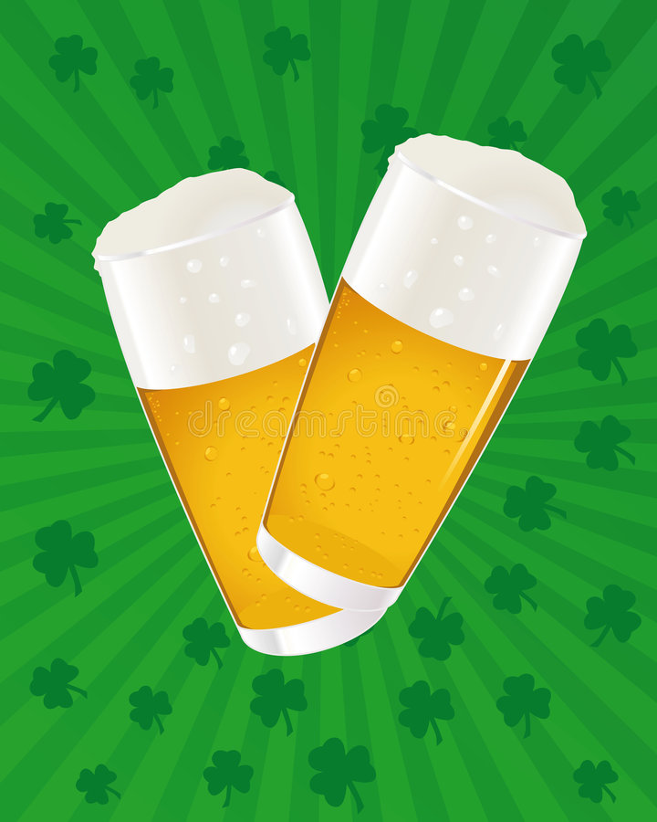 Patrick jest piwo dnia Św. ilustracji