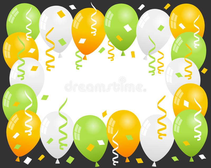 Download Patrick S Day Balloons & Confetti Frame Stock Vector - Image: 36472408