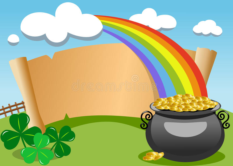 Patrick s Day Old Parchment Outdoor stock illustration