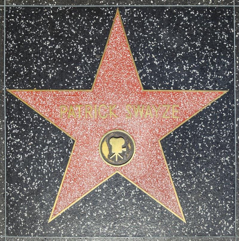 Patrick Swayzes-ster op Hollywood-Gang van Bekendheid royalty-vrije stock foto