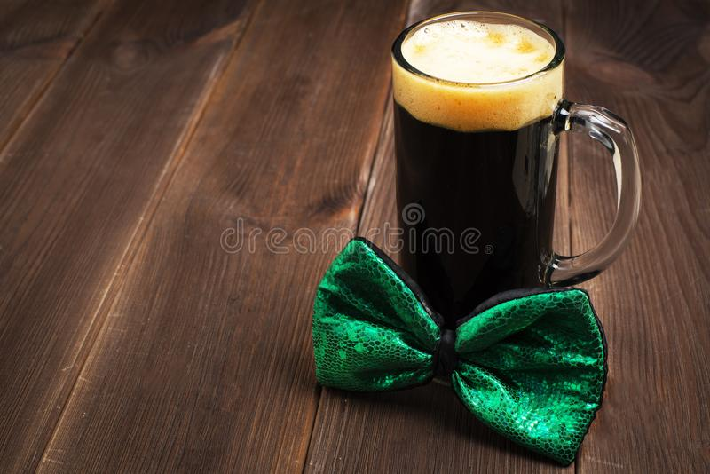 Patricks day holiday symbol. Space for text. royalty free stock image