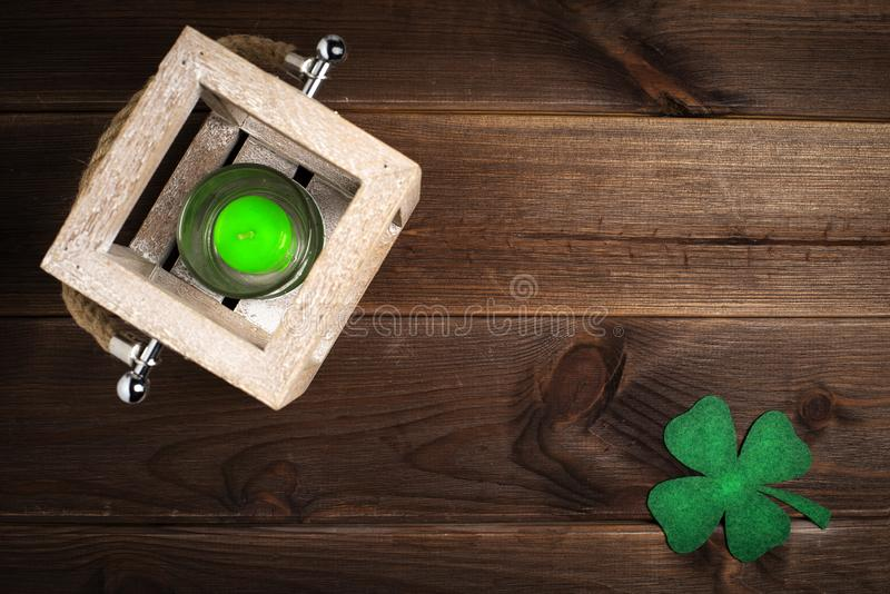Patricks day holiday symbol. Space for text. stock photography
