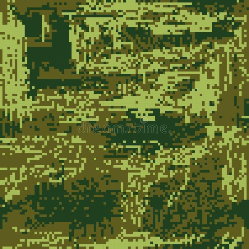 Patrie protectrice de pixel de coloration de vert de camouflage Vecteur illustration libre de droits