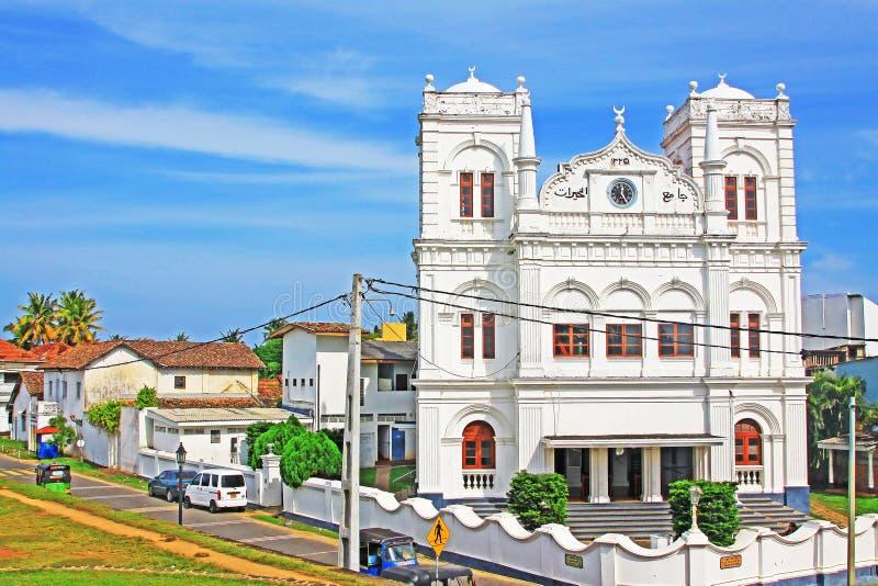 Patrimônio mundial do UNESCO do forte Meeran Jumma Masjid - do Sri Lanka de Galle foto de stock royalty free
