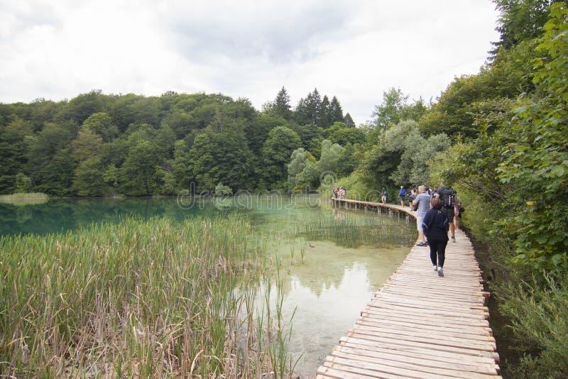 Patrimoine mondial de l'UNESCO de la Croatie de lacs Plitvice photographie stock