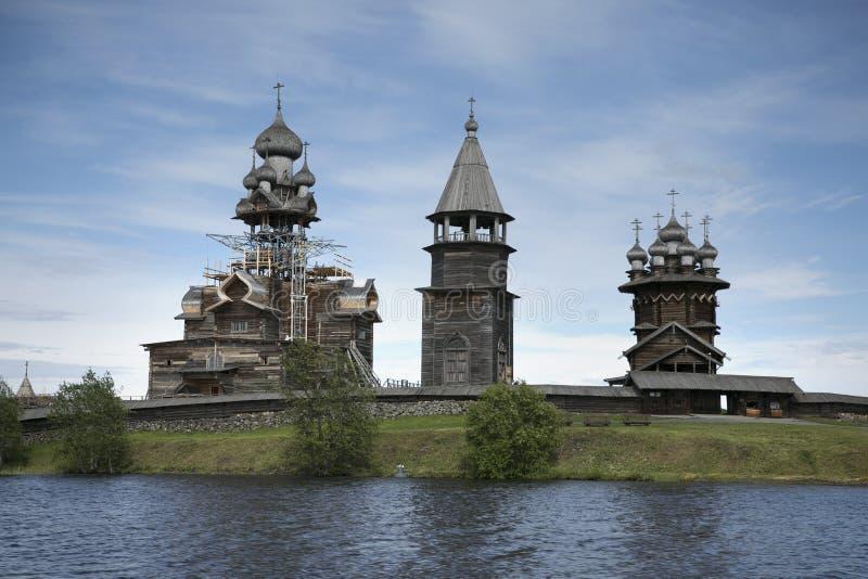 Patrimoine mondial de l'UNESCO de récupération de Kizhi Pogost images stock