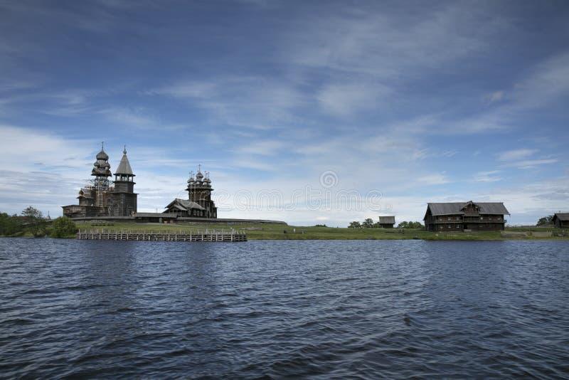 Patrimoine mondial de l'UNESCO de restauration de Kizhi Pogost image libre de droits