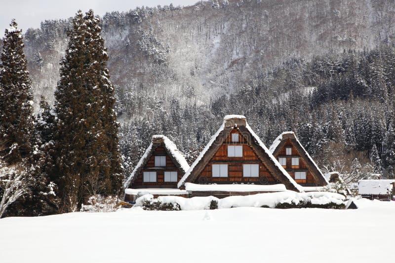 Village historique de Shirakawago images libres de droits