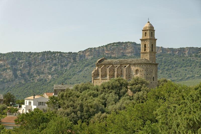 Patrimonio, 16th century Saint-Martins Church, Cap Corse, Northern Corsica, France stock images