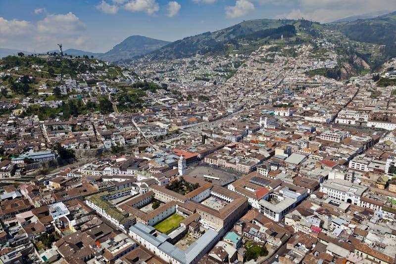 Patrimonio cultural del mundo colonial de Quito fotografía de archivo libre de regalías