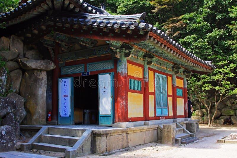 Patrimonio mondiale dell'Unesco della Corea - grotta di Seokguram immagini stock