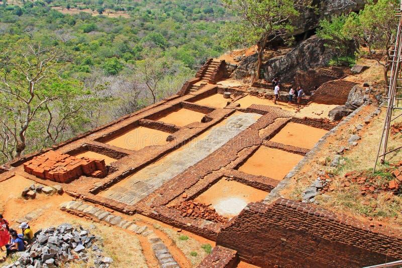 Patrimonio mondiale dell'Unesco dello Sri Lanka - di Sigiriya fotografie stock libere da diritti