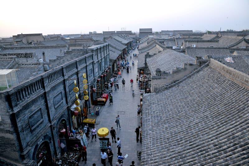 Patrimonio mundial: Ciudad antigua de Pingyao fotografía de archivo