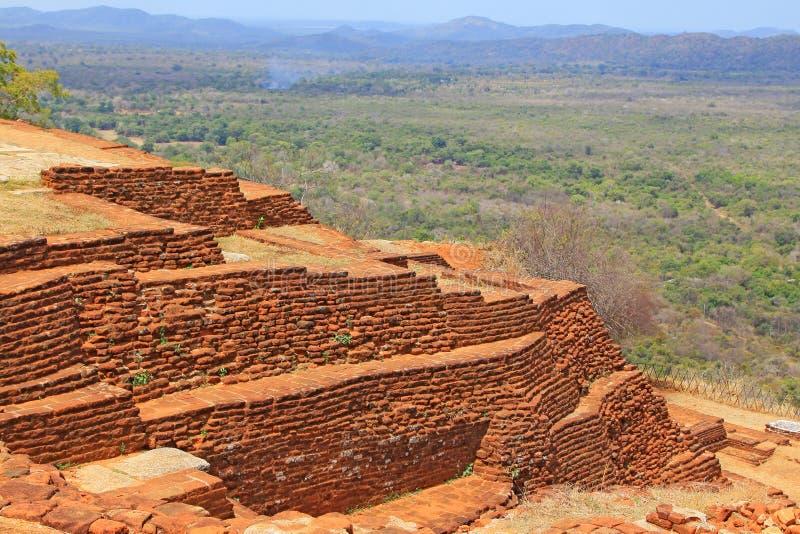 Patrimonio mundial de la UNESCO de Sigiriya - de Sri Lanka foto de archivo