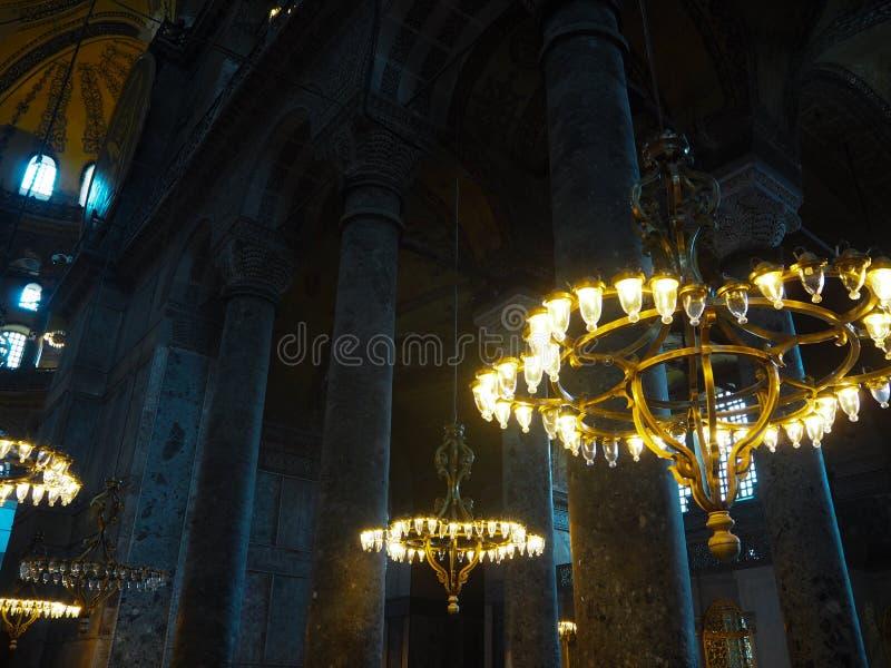 Patrimonio mundial Hagia Sofía de los lugares públicos A en la ciudad histórica de Turquía imagenes de archivo