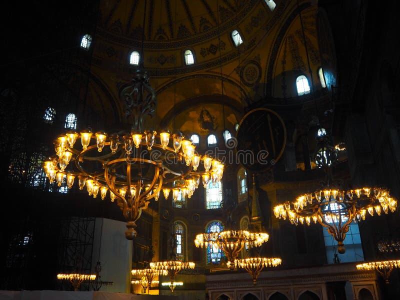 Patrimonio mundial Hagia Sofía de los lugares públicos A en la ciudad histórica de Turquía foto de archivo