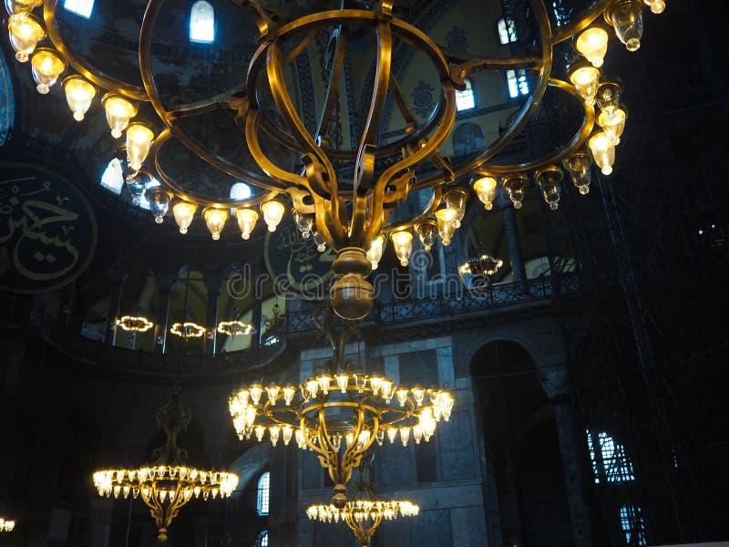 Patrimonio mundial Hagia Sofía de los lugares públicos A en la ciudad histórica de Turquía imágenes de archivo libres de regalías
