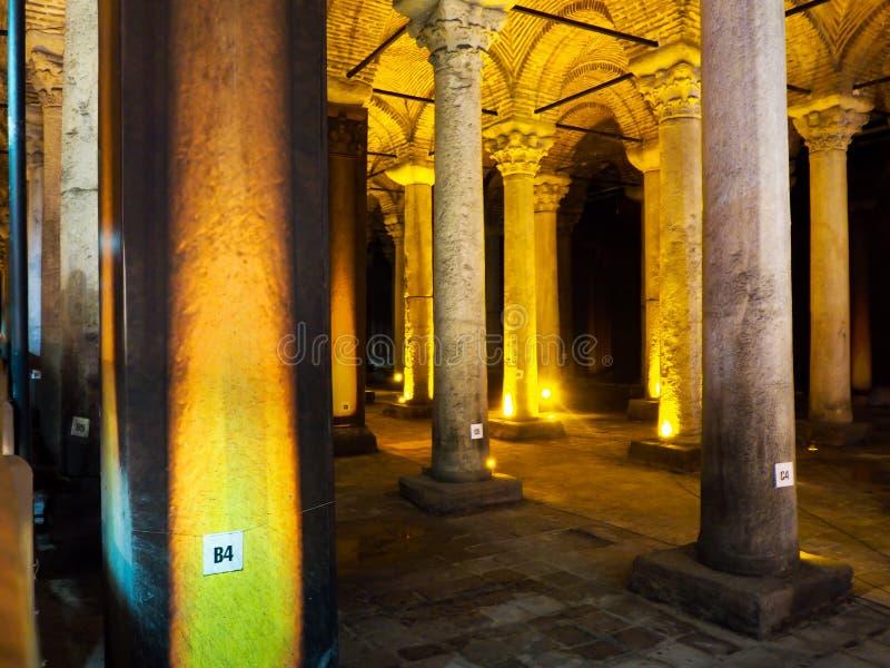Patrimonio mundial Yerebatan Sarnici de los lugares públicos A en la ciudad histórica de Turquía imagen de archivo libre de regalías