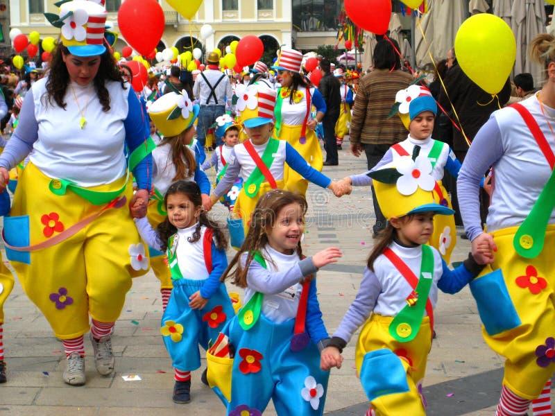 Patrino Karnavali, carnaval 2009 de Patra imagem de stock royalty free