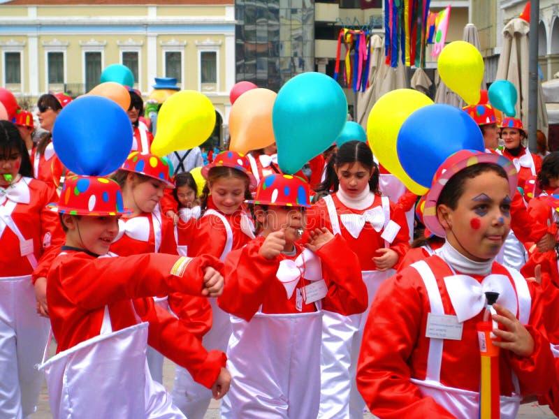 Patrino Karnavali, carnaval 2009 de Patra imagem de stock