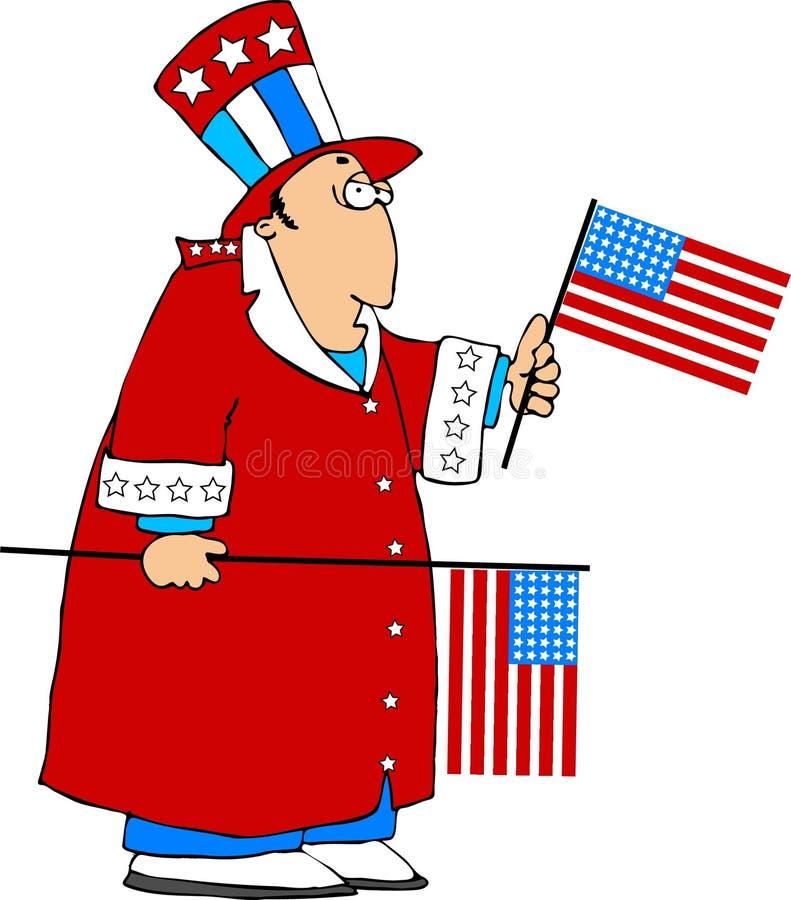 Patriot royalty-vrije illustratie