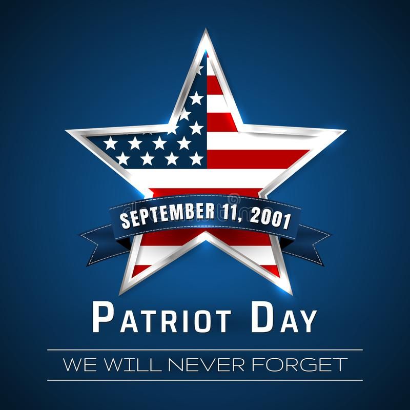 Free Patriot Day 9.11 Digital Sign With Star. Vector Illustration Stock Photography - 109655652