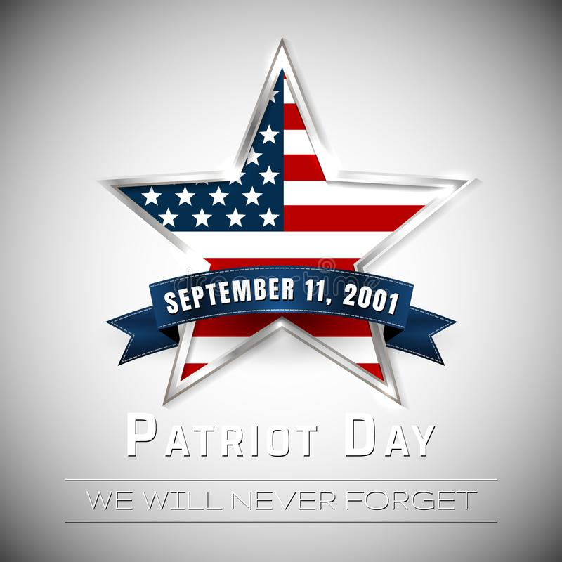 Free Patriot Day 9.11 Digital Sign With Star. Vector Illustration Stock Image - 109655671