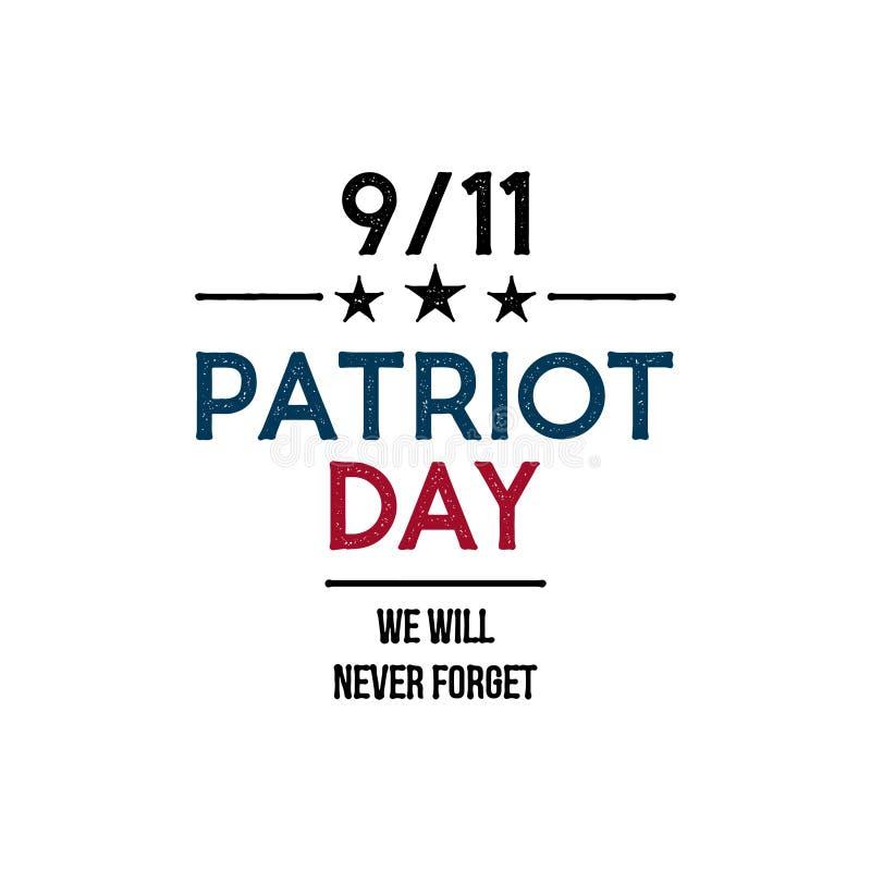 9/11 Patriot Day banner. We will never forget. Design template. Vector illustration vector illustration