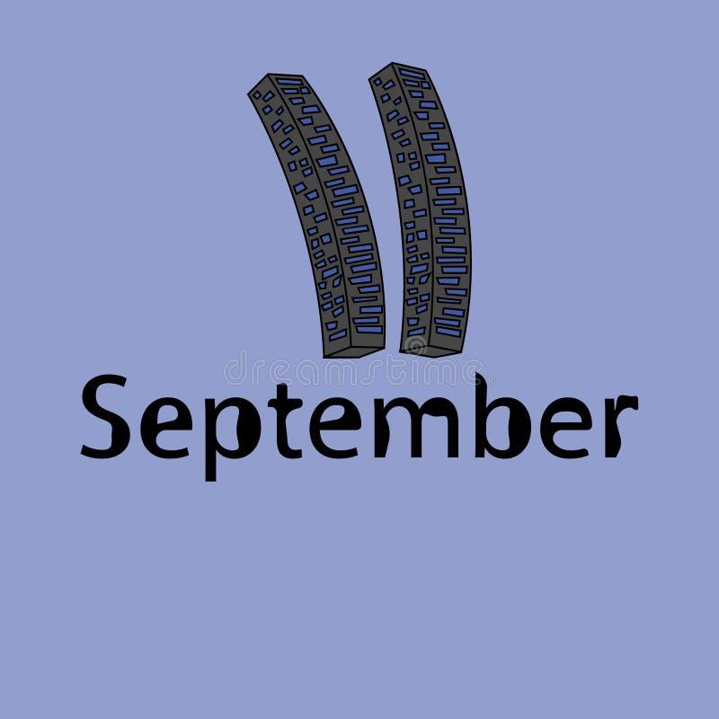 Patriot Day September 11 vector illustration